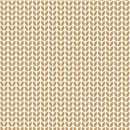 100552222 - Hygge Stylised Leaves Yellow Casadeco Wallpaper