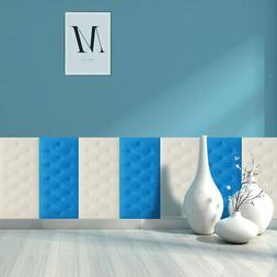 2 Pieces 3D Wallpaper Wall Panels Insulation Tatami for Home