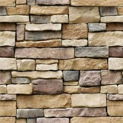 3D Stone Wallpaper Rock Self-Adhesive Wall Panel Removable H