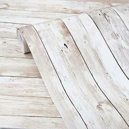 """Abyssaly Wood Wallpaper 17.71"""" X 118"""" Self-Adhesive Removabl"""