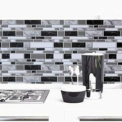 Black and White Peel and Stick Wallpaper for Kitchen,11.8inc