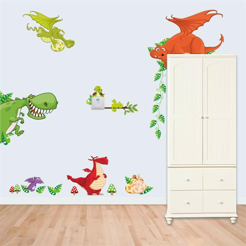 animal wall stickers 3d decal wallpaper forest