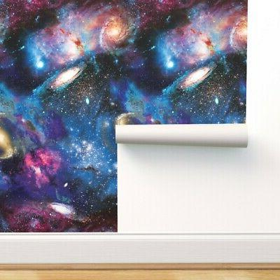 removable water activated wallpaper galaxy abstract space