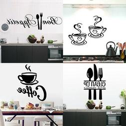 Large Kitchen Coffee Cuisine Wall Sticker Vinyl Poster Mural