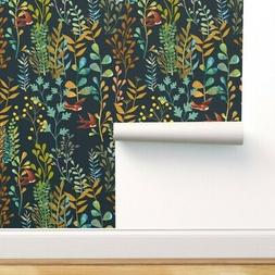 Peel-and-Stick Removable Wallpaper Botanical Watercolor Fern