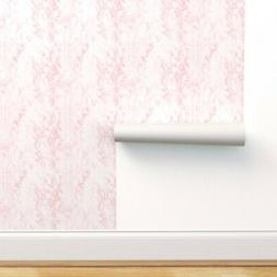 Peel-and-Stick Removable Wallpaper Pink Marble White Blush S