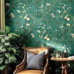 Peel and Stick Vintage Floral Birds Wallpaper Wall Decor 14.