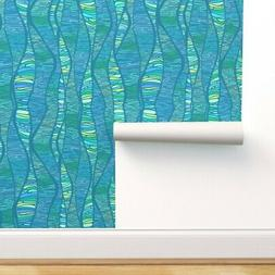 Removable Water-Activated Wallpaper Mid-Century Modern Retro