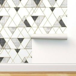 Removable Water-Activated Wallpaper Mod Triangles Black And