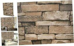 """Stone Peel and Stick Wallpaper 17.71"""" x 118"""" Faux Textured S"""