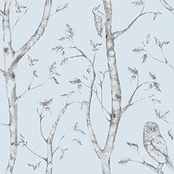 Wall Pops NU1413 Blue Woods Peel and Stick Wallpaper