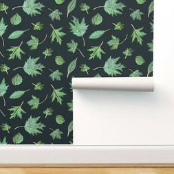 Removable Water-Activated Wallpaper Retro Vintage Dark Blue