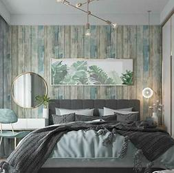 Wallpaper Sticker Removable Wood Peel And Stick Paper Decora