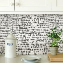 Wallpops Contemporary Kylver Charcoal Peel and Stick Modern
